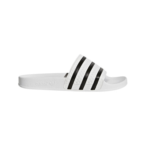adidas 280648 Adilette Sliders in White/ Black Shoes adidas