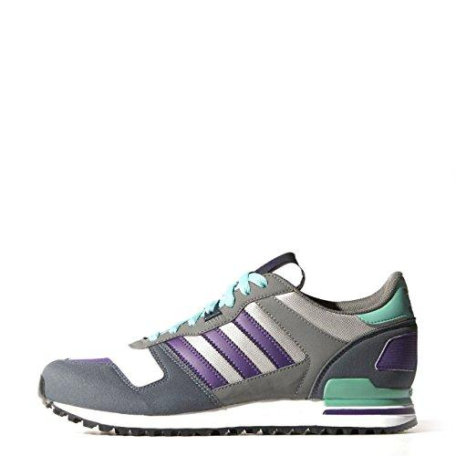 Adidas ZX700 Trainers in Ash Grey and Purple