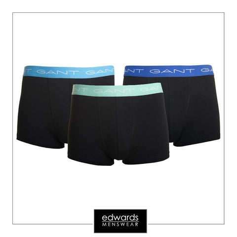 Gant 3 Pack Stretch Trunks in Black