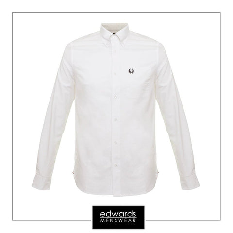 Fred Perry Oxford Shirt M9546-100 in White Shirts Fred Perry