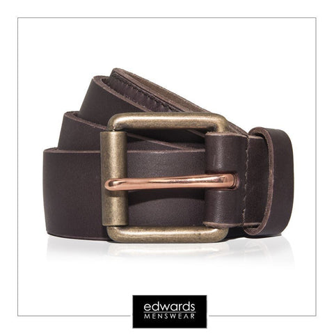 Mens Superdry Belt in a Tin, in Dark Brown