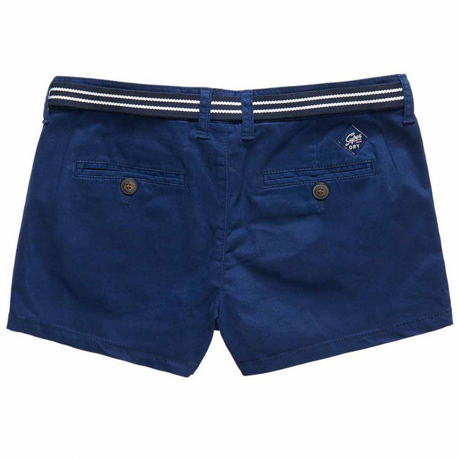 Ladies Superdry International Hot Short in Navy