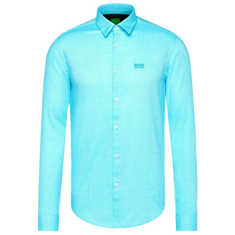 Boss C-Buster Long Sleeve Shirt in Open Blue Shirts BOSS