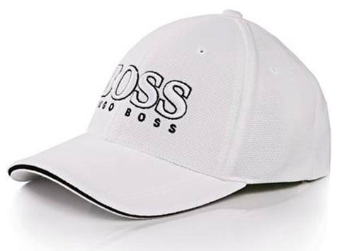 Hugo Boss Cap US in White Hats Edwards Menswear