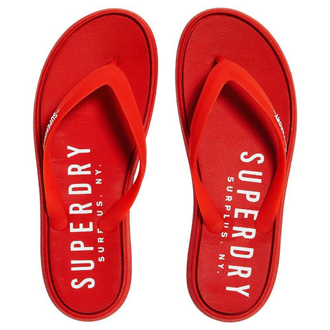 Surplus Goods Flip Flops In Red Sliders Superdry