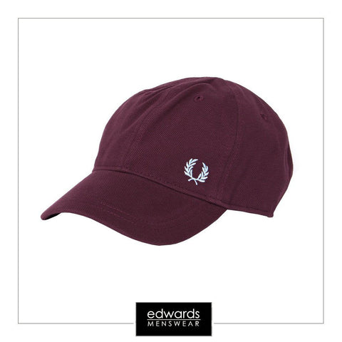 Fred Perry Baseball Cap in Burgundy