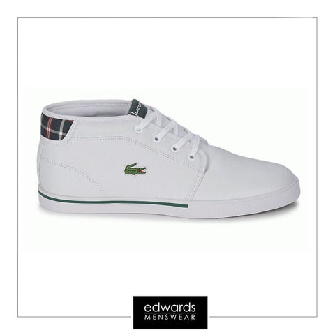Lacoste Ampthill Leather Trainers in White