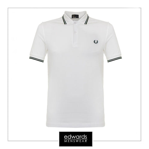 Fred Perry Twin Tipped Polo Shirt in White