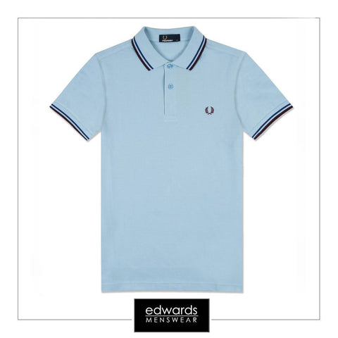 Fred Perry Twin Tipped Polo Shirt in Blue