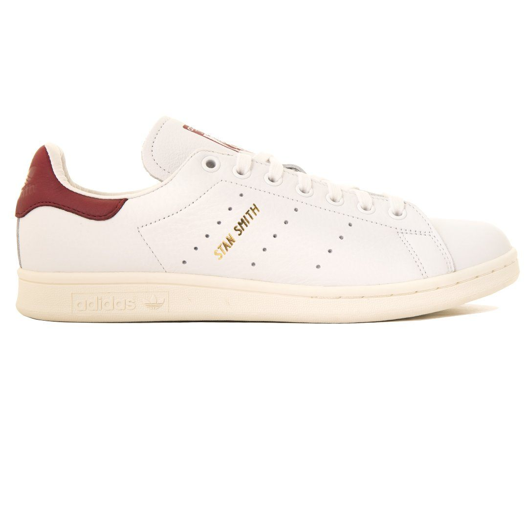 stan smith white burgundy