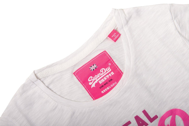 Ladies Superdry Ombre Entry Tee in White