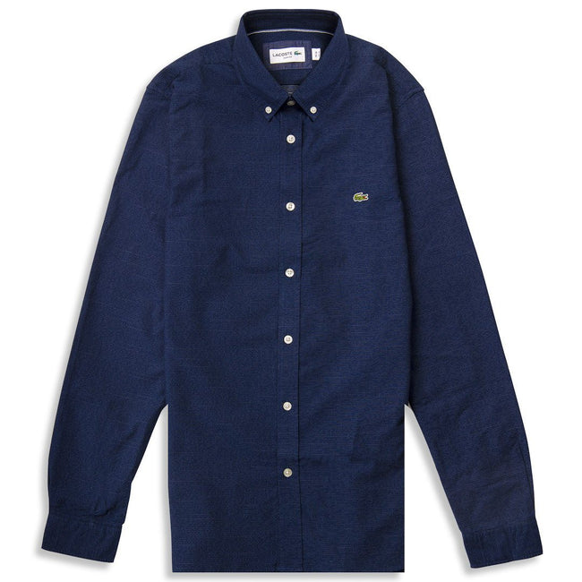 Lacoste CH5244-166 Button Down Collar Shirt in Navy