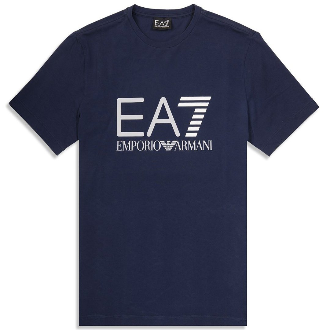 Emporio Armani EA7 Logo Series Tee in Navy Blue