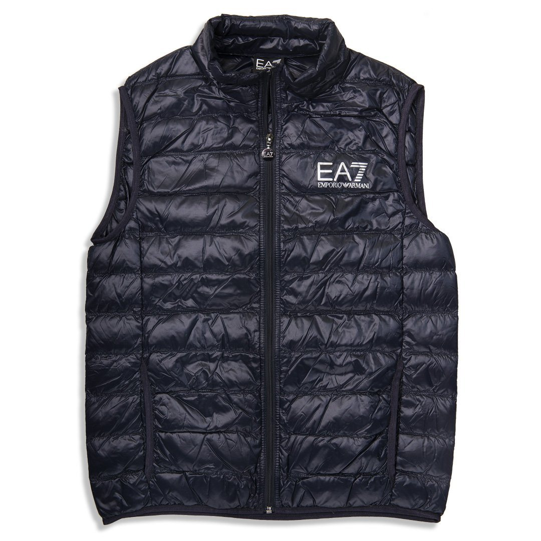 Emporio Armani EA7 Core ID Down Gilet in Night Blue