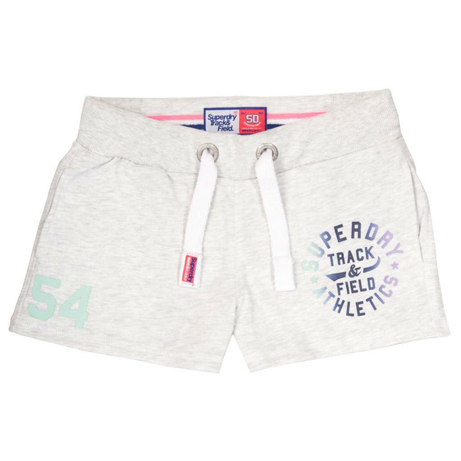 Ladies Superdry Track & Field Lite Short in Ice Marl Shorts Ladies Superdry