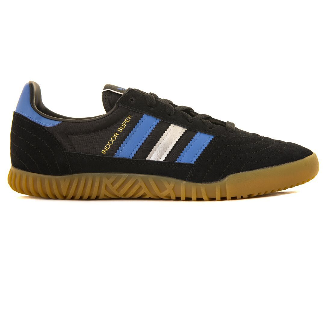 24b7e938c95 Adidas Indoor Super CQ2224 in Black / Royal / Silver Trainers Edwards  Menswear ...