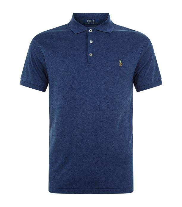 Ralph Lauren Slim Fit Soft Touch Polo Shirt in Navy Heather