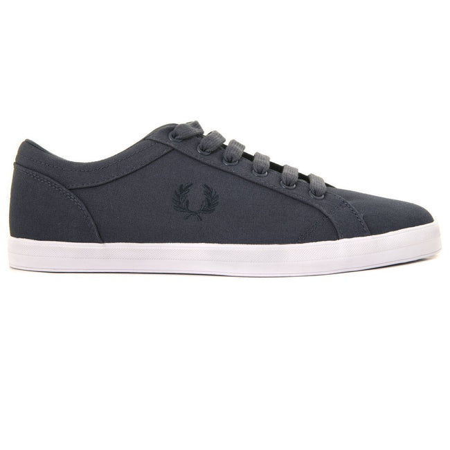 Fred Perry Baseline Canvas Trainers in Graphite