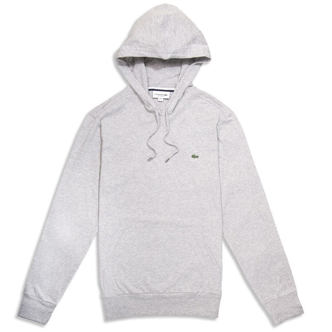 Lacoste TH9349-CCA Lightweight Hooded Sweatshirt in Grey