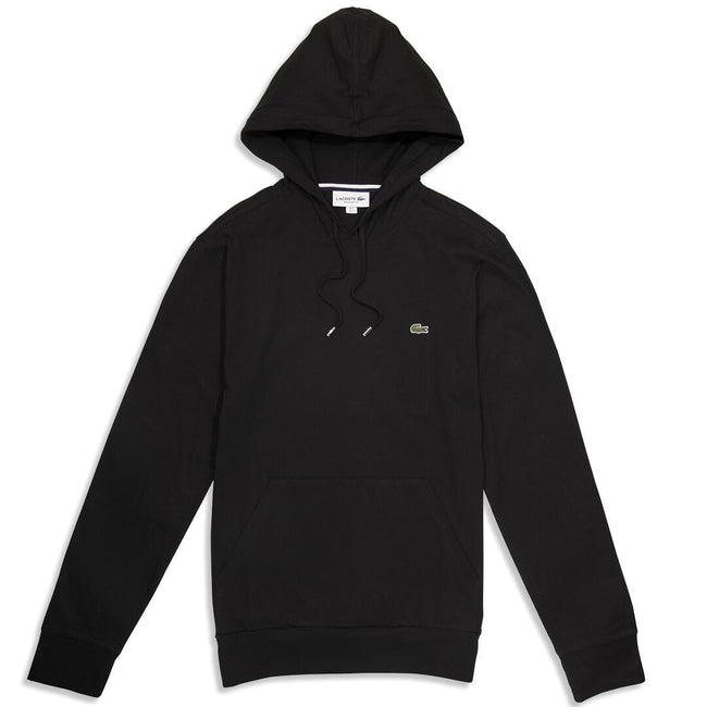 Lacoste TH9349-031 Lightweight Hooded Sweatshirt in Black