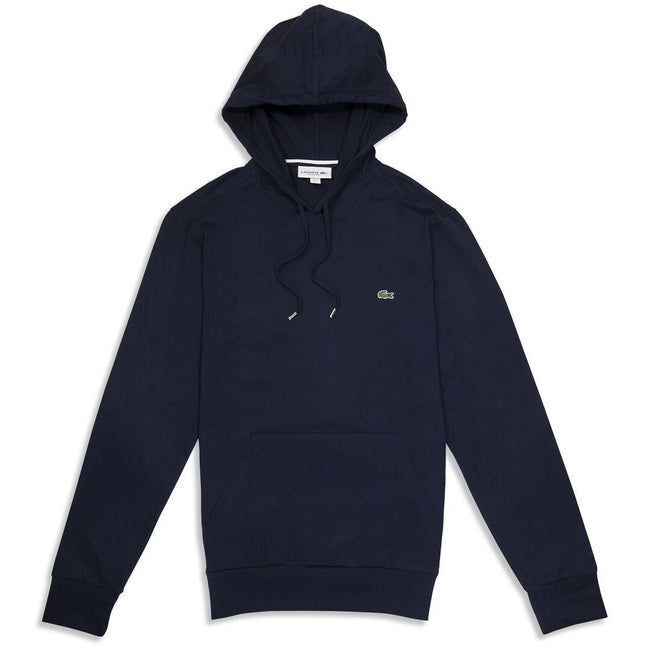 Lacoste TH9349-166 Lightweight Hooded Sweatshirt in Marine