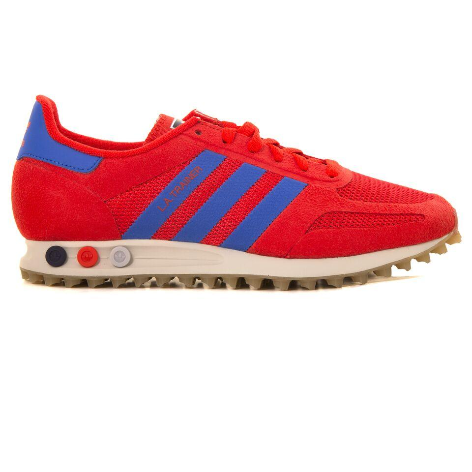 new styles 10d01 908f2 Adidas LA Trainer CQ2275 in High Resolution Red – Edwards Menswear