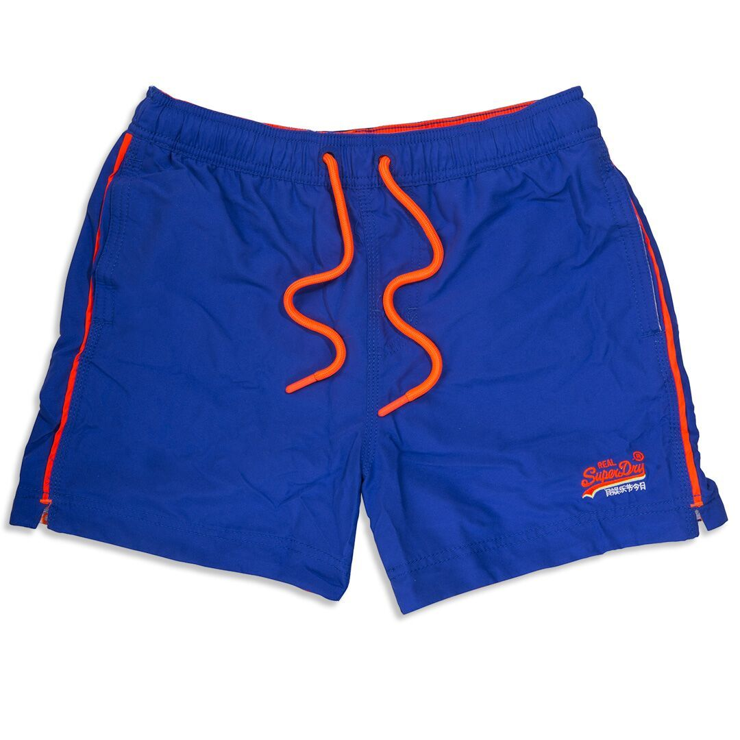 e579d8d6dbed7 Superdry Beach Volley Swim Shorts in Voltage Blue – Edwards Menswear