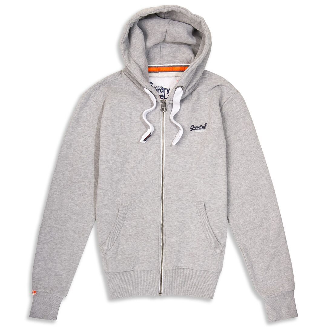 Superdry Orange Label Ziphood in Grey Marl