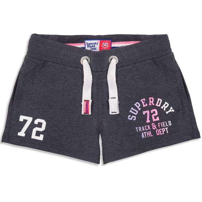 Superdry Womens Field Lite Short in Miami Charcoal Marl