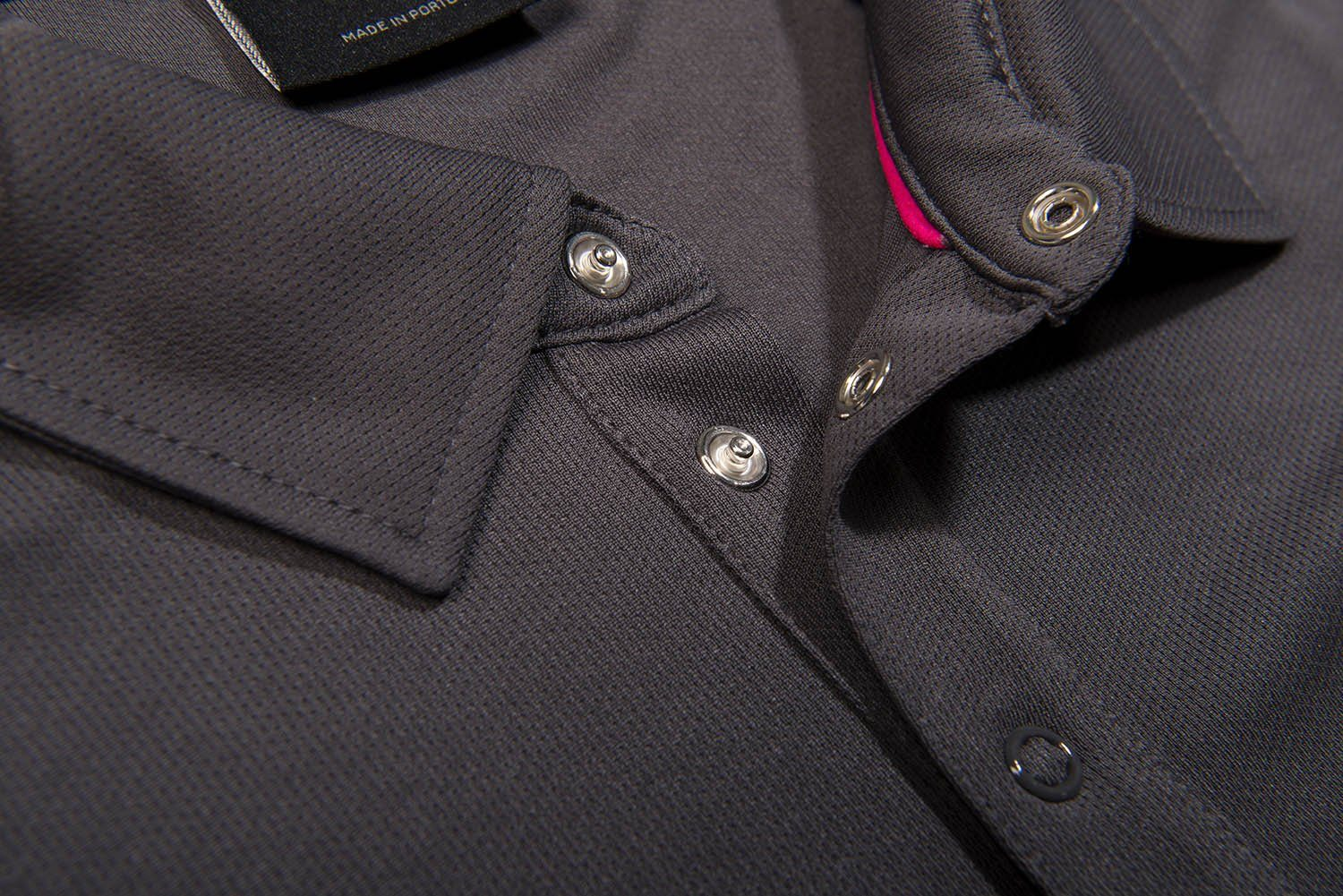 Galvin Green Mannix V8+ Polo Shirt in Iron Grey / Cerise