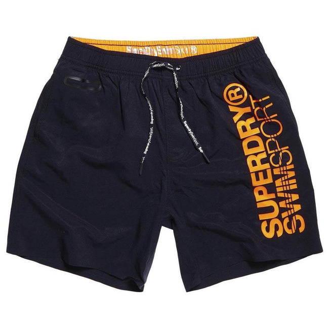Superdry SD Sports Volley Swim Shorts in Darkest Navy