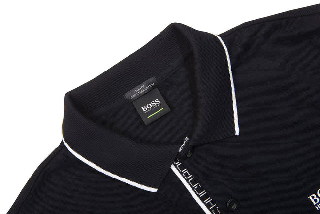 BOSS Athleisure Paule 4 Slim Fit Polo Shirt in Black / White