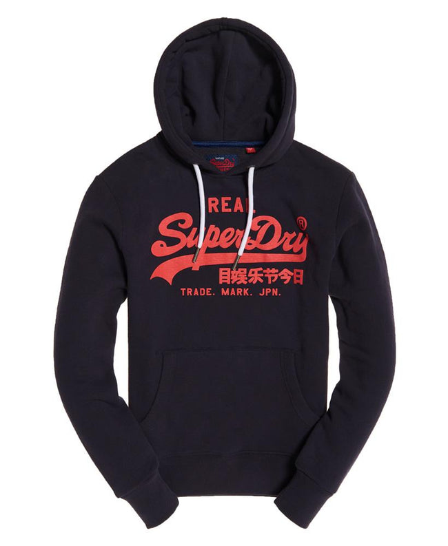 Superdry Vintage Logo Hood in Podium Navy