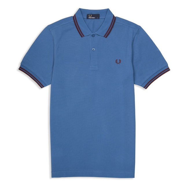 51c3e2465 Fred Perry M3600 Twin Tipped Polo Shirt in Blue / Red