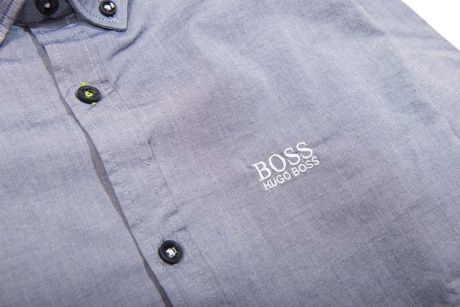 BOSS Athleisure Biado-R Long Sleeve Shirt in Open Blue