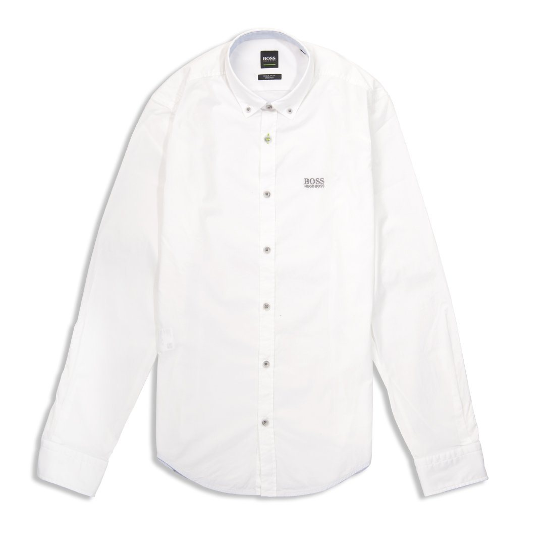 BOSS Biado-R Long Sleeve Shirt in White