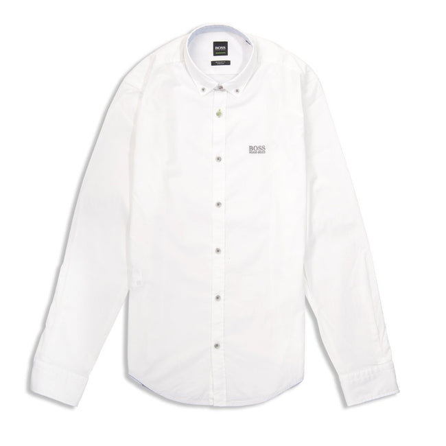 BOSS Athleisure Biado-R Long Sleeve Shirt in White