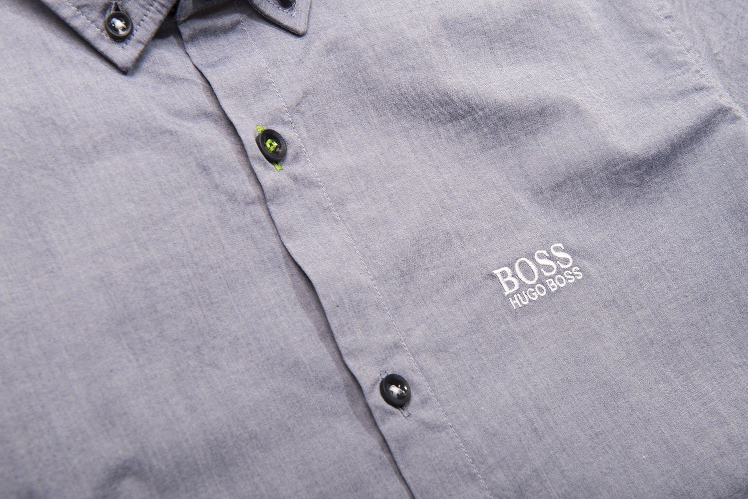 BOSS Athleisure Biadia-R Short Sleeve Shirt in Open Blue
