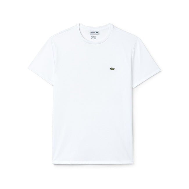Lacoste TH6709-001 Crew Neck Tee in White