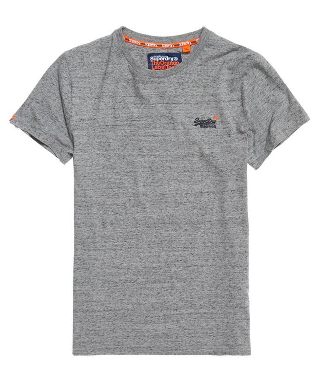 Superdry Orange Label Vintage Embroidered Short Sleeve Tee in Flint Steel Grey