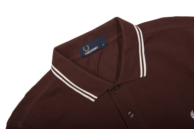 97ede6081 Fred Perry M3636 Long Sleeved Twin Tipped Polo in Stadium Red