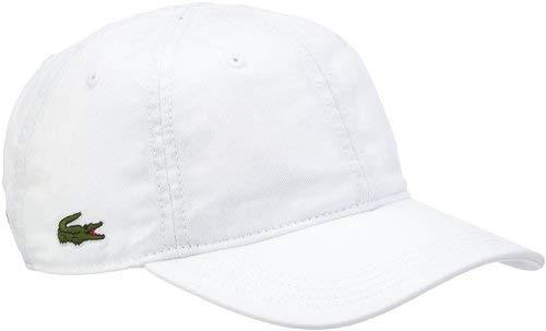 ce08e66b3d87d2 Lacoste RK9811-001 Baseball Cap in White – Edwards Menswear