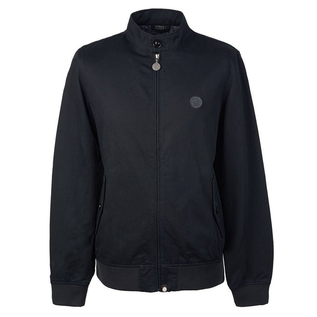 Pretty Green Cotton Harrington Jacket in Black