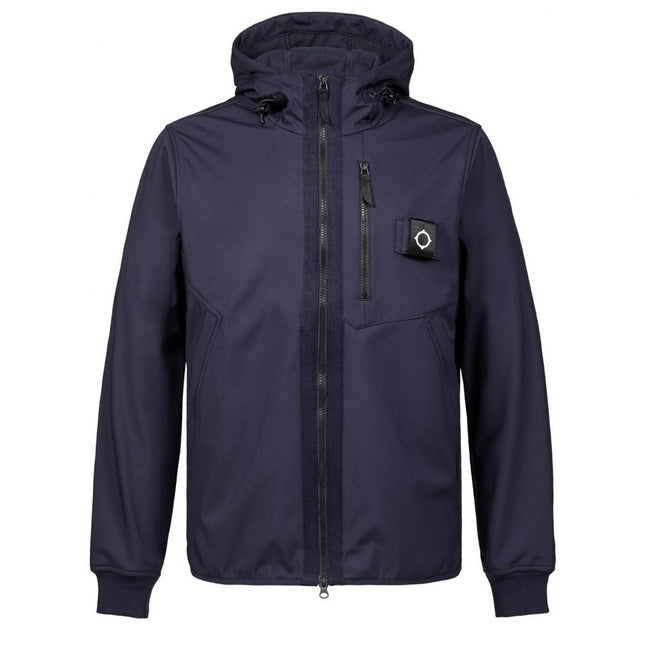 MA.STRUM Titan Soft Shell Jacket in True Navy