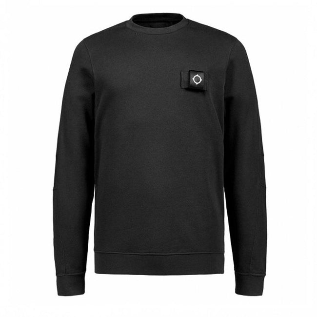 MA.STRUM Training Crew Neck Sweatshirt in Jet Black
