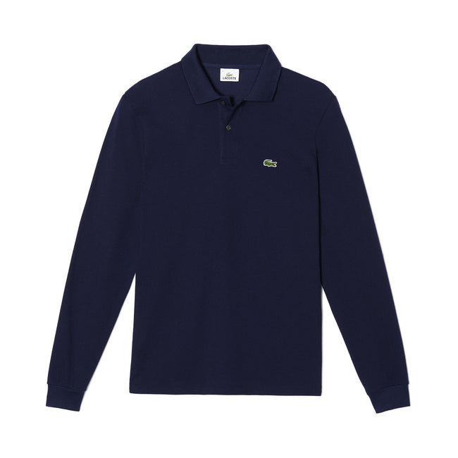 ebac844ba Lacoste L1312-166 Long Sleeved Polo in Marine
