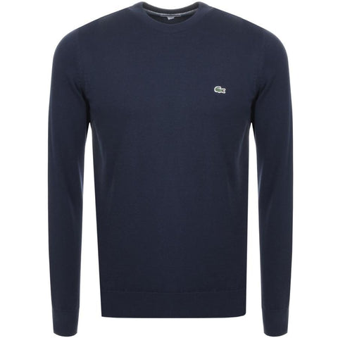 Lacoste AH3467-M6S Crew Neck Jumper in Marine Jumpers Lacoste