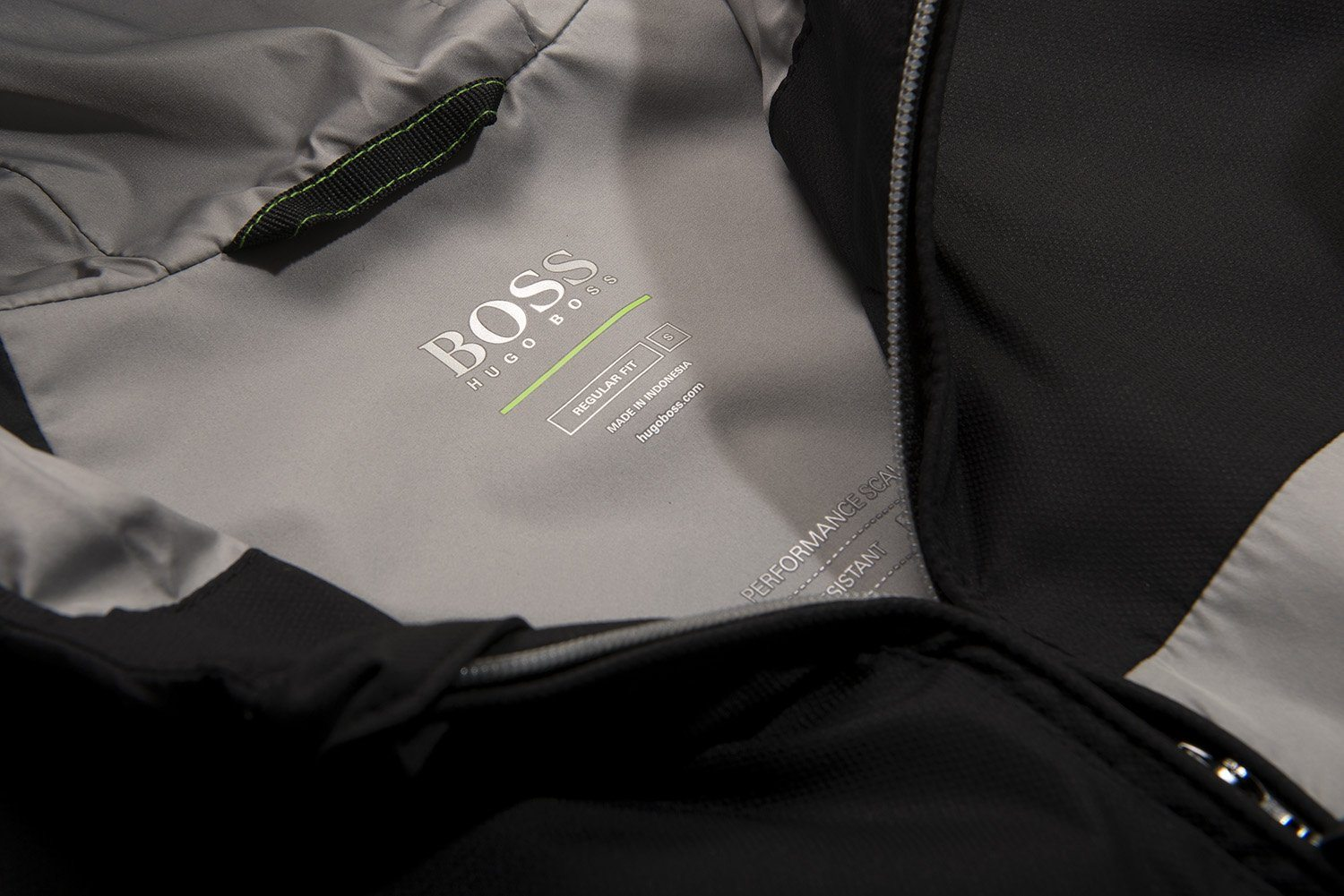 BOSS Athleisure Jeltech Water Repellent Jacket in Black Coats & Jackets BOSS