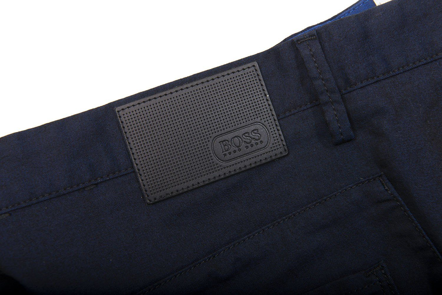 BOSS Athleisure Lester-20 Chino Trousers in Black/Blue