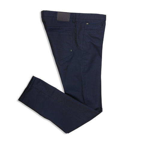 BOSS Lester-20 Chino Trousers in Black/Blue Jeans BOSS